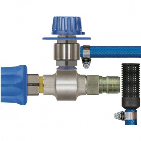 ST160 with metering valve & zinc plated plug & coupling
