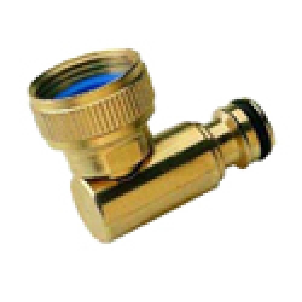 """Brass Swivel Elbow - 3/4"""" QR fitting (input side of hose reel)"""