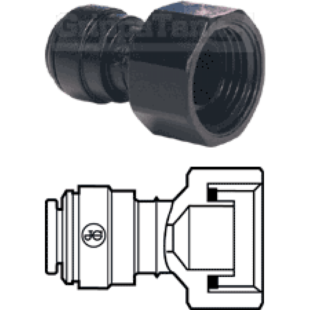 6mm  x 3/4 bsp  TAP ADAPTOR