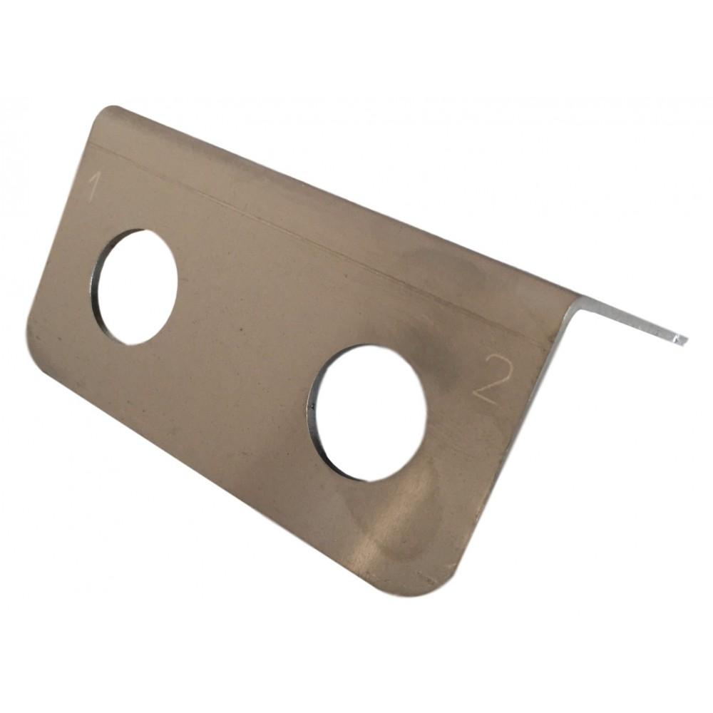 2 Port (QR)  Stainless Steel Bumper Underport Plate