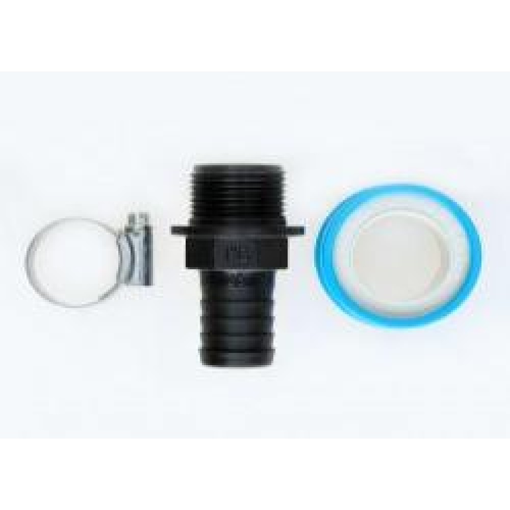 """Hose Tail Kit - 1"""" Outlet to 1""""X25MM Plastic Hosetail"""