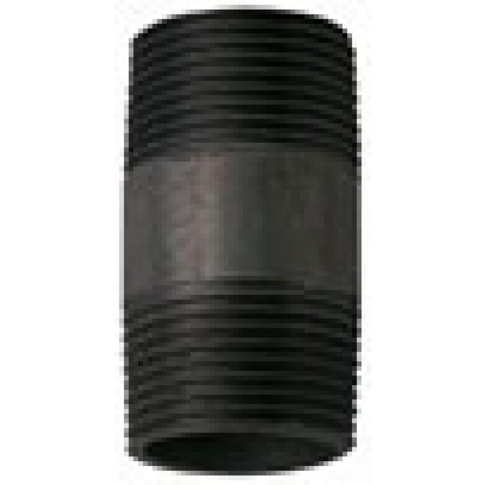 Medium Duty Malleable Black BSPT Iron Barrel Nipples