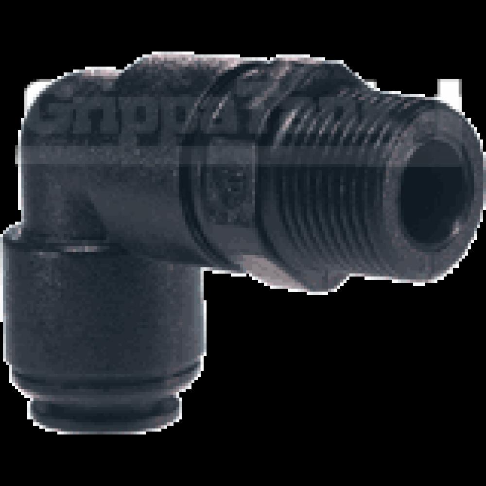 8mm  x 3/8 bspt SWIVEL ELBOW