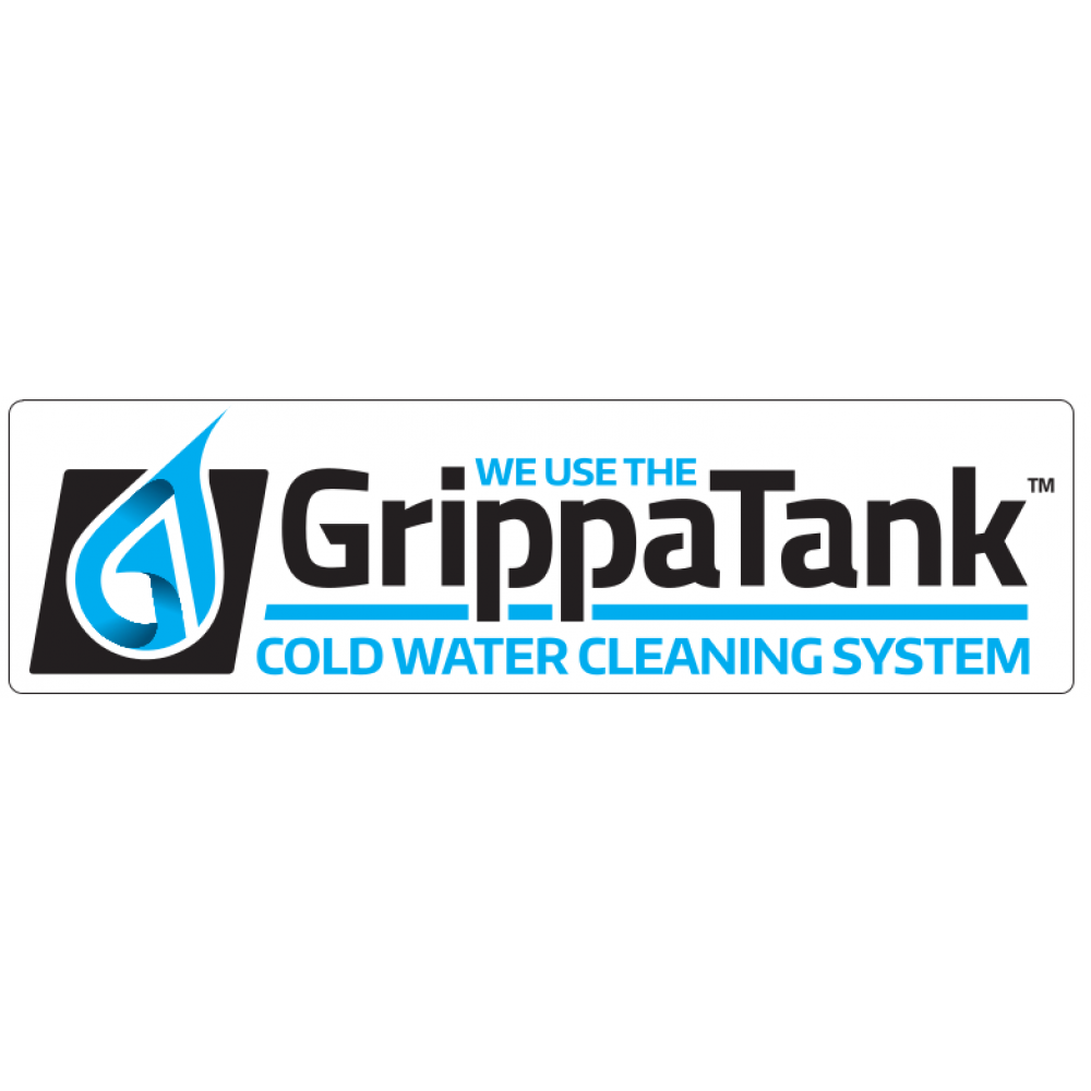 """Van Sticker - """"We Use The GrippaTank Cold Water System"""" """