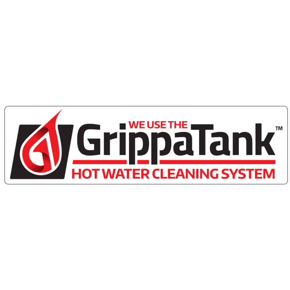 """Van Sticker - """"We use the GrippaTank Hot Water System"""" """