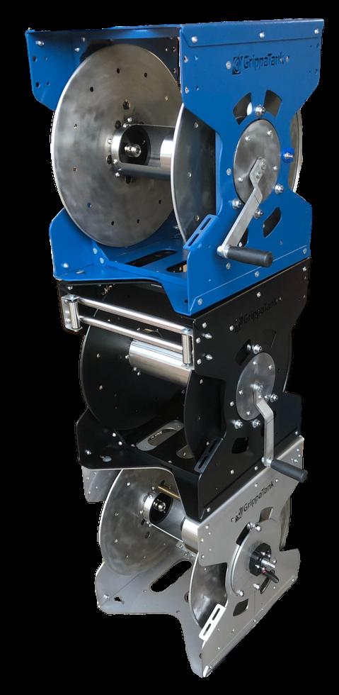GrippaReel V1 - Black Electric & Manual WFP Low Pressure Steel Water Reel