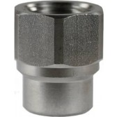 """FEMALE TO FEMALE STAINLESS STEEL SOCKET ADAPTOR-1/4""""F to 3/8""""F"""
