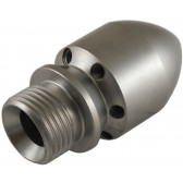 """1/2"""" MALE CYLINDER STYLE 075 SEWER NOZZLE WITHOUT FORWARD JET"""