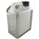 STAINLESS STEEL HOLDER WITH 1 LITRE BOTTLE