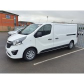 2019 Vauxhall Vivaro LWB White Van with 650 2 Man Delivery System