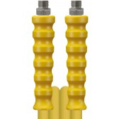 HIGH PRESSURE HOSE, YELLOW, 2 WIRE, WRAPPED COVER, 400 BAR