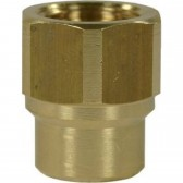 "FEMALE TO FEMALE BRASS SOCKET ADAPTOR-1/4""F to 3/8""F"