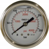 PRESSURE GAUGE 0-250 BAR WITH REAR ENTRY