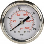 PRESSURE GAUGE 0-160 BAR WITH REAR ENTRY