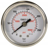 PRESSURE GAUGE 0-250 WITH REAR ENTRY