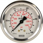 PRESSURE GAUGE 0-1000 BAR WITH REAR ENTRY