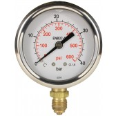 "PRESSURE GAUGE 0-40 BAR 1/4""M BOTTOM INLET"