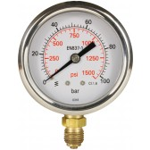 PRESSURE GAUGE 0-100 BAR WITH BOTTOM ENTRY
