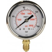 PRESSURE GAUGE 0-160 BAR BOTTOM ENTRY
