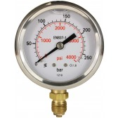 PRESSURE GAUGE 0-250 BAR WITH BOTTOM ENTRY