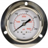 PRESSURE GAUGE 0-250 BAR WITH MOUNTING RING