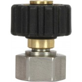 QS COUPLING M22F to M20F BLACK