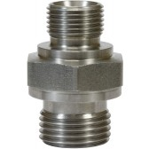 """MALE TO MALE STAINLESS STEEL DOUBLE NIPPLE ADAPTOR-1/4""""M to 3/8""""M"""