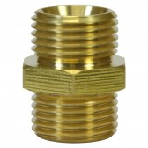 """MALE TO MALE BRASS DOUBLE NIPPLE ADAPTOR-1""""M to 1""""M"""