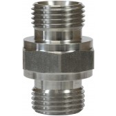 """MALE TO MALE STAINLESS STEEL DOUBLE NIPPLE ADAPTOR-1""""M to 1""""M"""