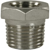 "FEMALE TO MALE STAINLESS STEEL REDUCTION NIPPLE ADAPTOR-1/4""F to 1/2""M"