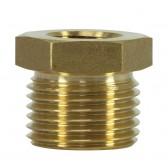"FEMALE TO MALE BRASS REDUCTION NIPPLE ADAPTOR-1/4""F to 1/2""M"