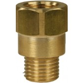 """FEMALE TO MALE BRASS EXTENSION NIPPLE ADAPTOR-1/4""""F to 1/4""""M"""