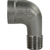 """ELBOW STAINLESS STEEL 3/8""""F x 3/8""""M"""
