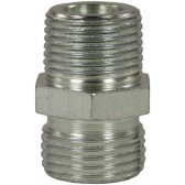 "MALE TO MALE ZINC PLATED STEEL BICONE RING COMPRESSION FITTING ADAPTOR X-GE- M22 M to 1/2""M"