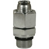 """MALE TO FEMALE ZINC PLATED STEEL BICONE RING COMPRESSION FITTING ADAPTOR EG-M18 M to 1/4""""F"""