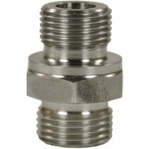 """MALE TO MALE STAINLESS STEEL BICONE RING COMPRESSION FITTING ADAPTOR X-GE-M18 M to 1/4""""M"""