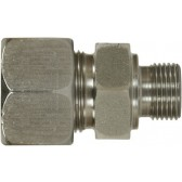 MALE STUD COUPLING, STAINLESS STEEL