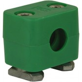 PIPE CLAMP, 12mm, WITH TRACK NUTS