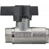 "BALL VALVE + BUTTERFLY HANDLE 1/2""F x 1/2""F NICKEL PLATED BRASS"