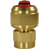 "BRASS 1/2"" COUPLING WITH NON RETURN VALVE"