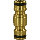 HOSE CONNECTING DOUBLE PLUG BRASS 1/2""