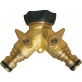 COUPLING PLUG 2 WAY BRASS X RUBBER 3/4""