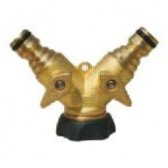 """Quick Release Hose Splitter - Shut-Off Twin Male Plugs with 3/4"""" Female Thread"""