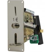 COIN MECHANISM FOR 1 EURO COIN , WITH PHOTOCELL