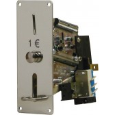 COIN MECHANISM FOR 1 EURO COIN, WITH MICROSWITCH