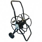 Metal Hose Reel with Wheels - Black