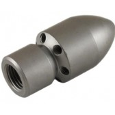 "1/2"" FEMALE CYLINDER STYLE SEWER NOZZLE WITH FORWARD JET (075)"