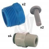 "1/2"" John Guest Plumbing Adaptor Kit for 4021-SSH Housing"