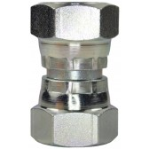"""FEMALE TO FEMALE STAINLESS STEEL SWIVEL ADAPTOR-1/4""""F to 1/4""""F"""