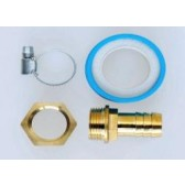 """Hosetail Kit 4 - 1""""Outlet to 1/2""""X12MM Brass Hosetail"""
